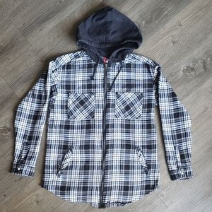 H&M Hooded Zip up Flannel